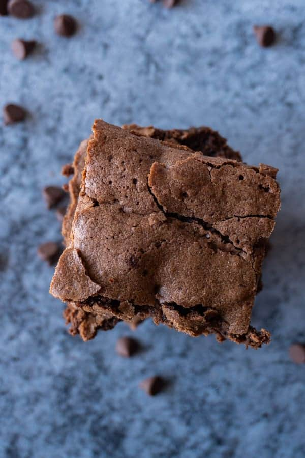 Brownies from Scratch overhead shot