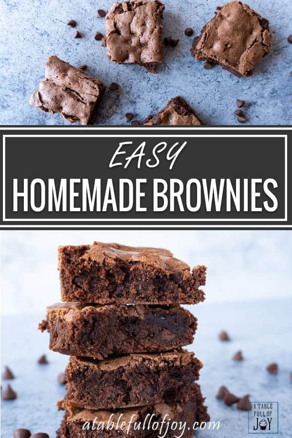 Brownies from Scratch Pinterest PIN