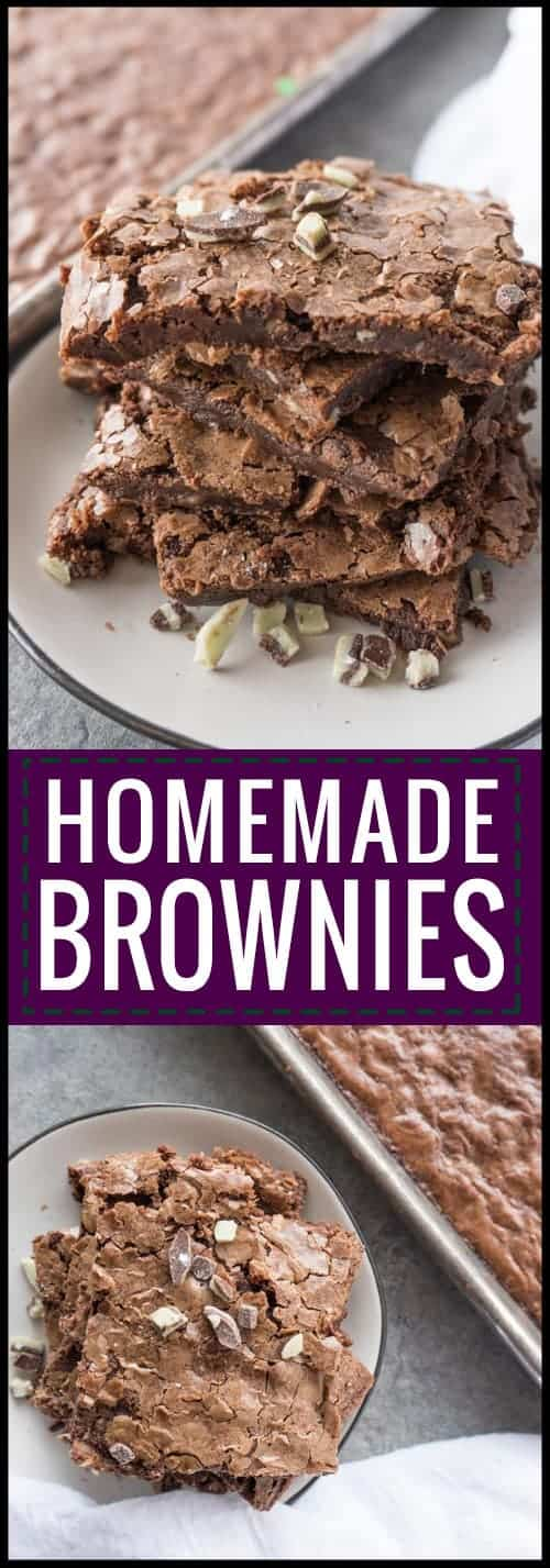 Sheet Pan Brownies Pinterest Pin