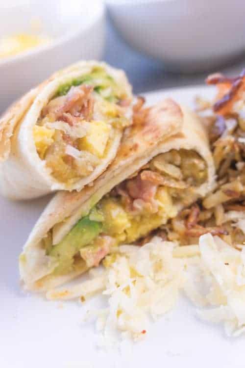 Breakfast burrito meal prep