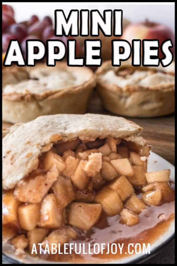 These Witchwood Mini Apple Pies are so fun to make- not to mention eat! Made to celebrate the new expansion, go make a few to enjoy while you play! The apple pie filling is sweet and delicious and the pie crust is a quick and simple crust that comes together in no time! #hearthstone #game #atablefullofjoy #applepie #pie #apple #dessert