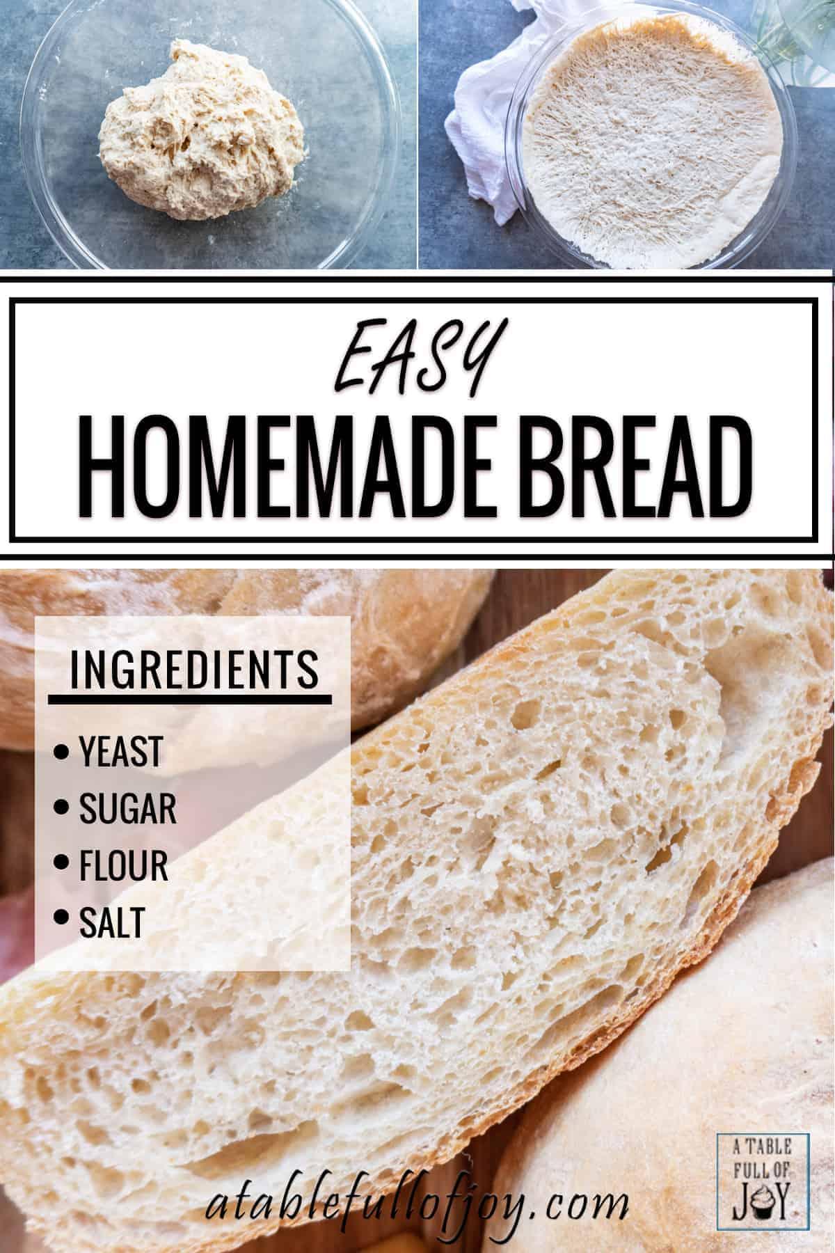 Homemade Bread Recipe Pin