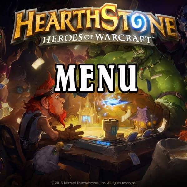 Hearthstone Menu