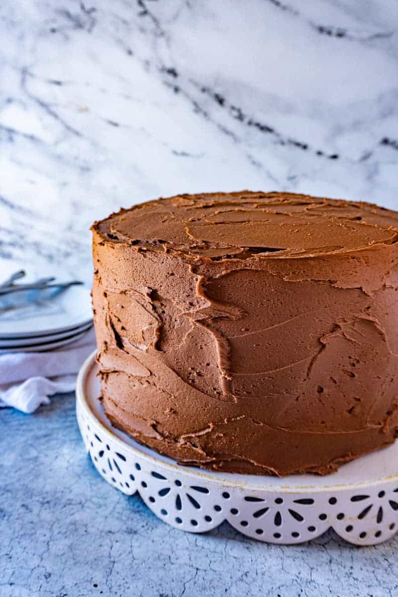 Chocolate Cake with Chocolate Frosting on cake stanf