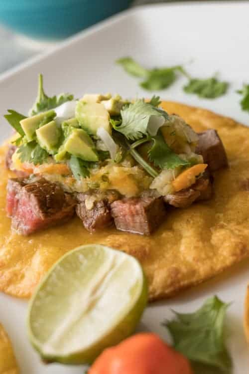 Steak Taco with Mango Salsa