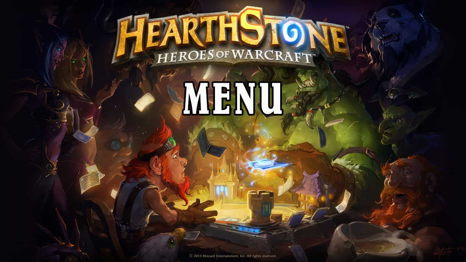 Hearthstone Menu