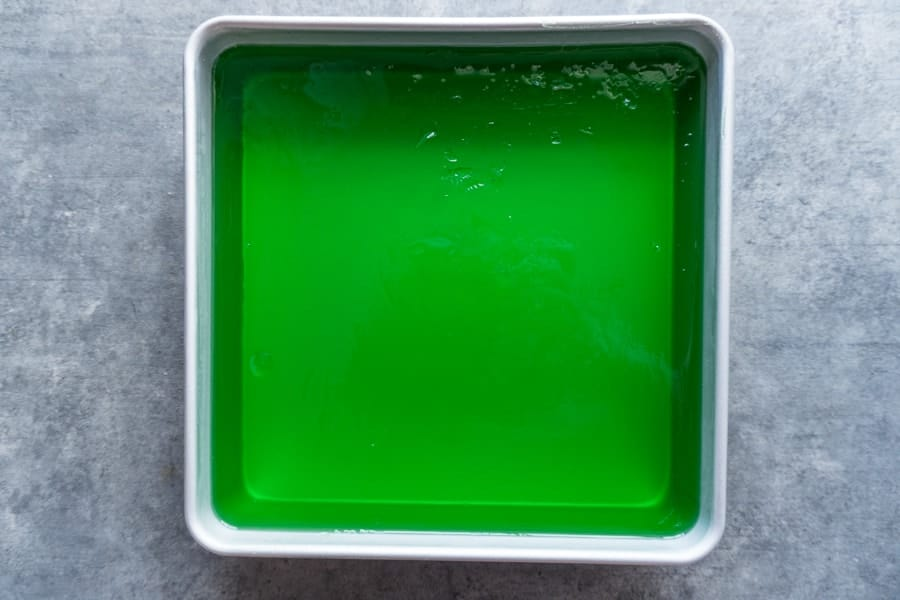 Green Jello Step 2 After it has set up