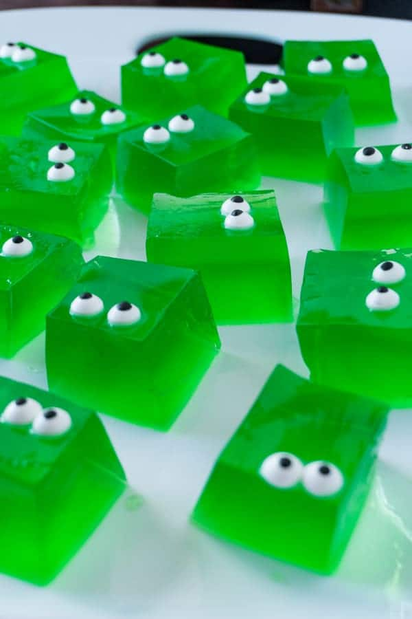 Green Jello Cubes • A Table Full Of Joy