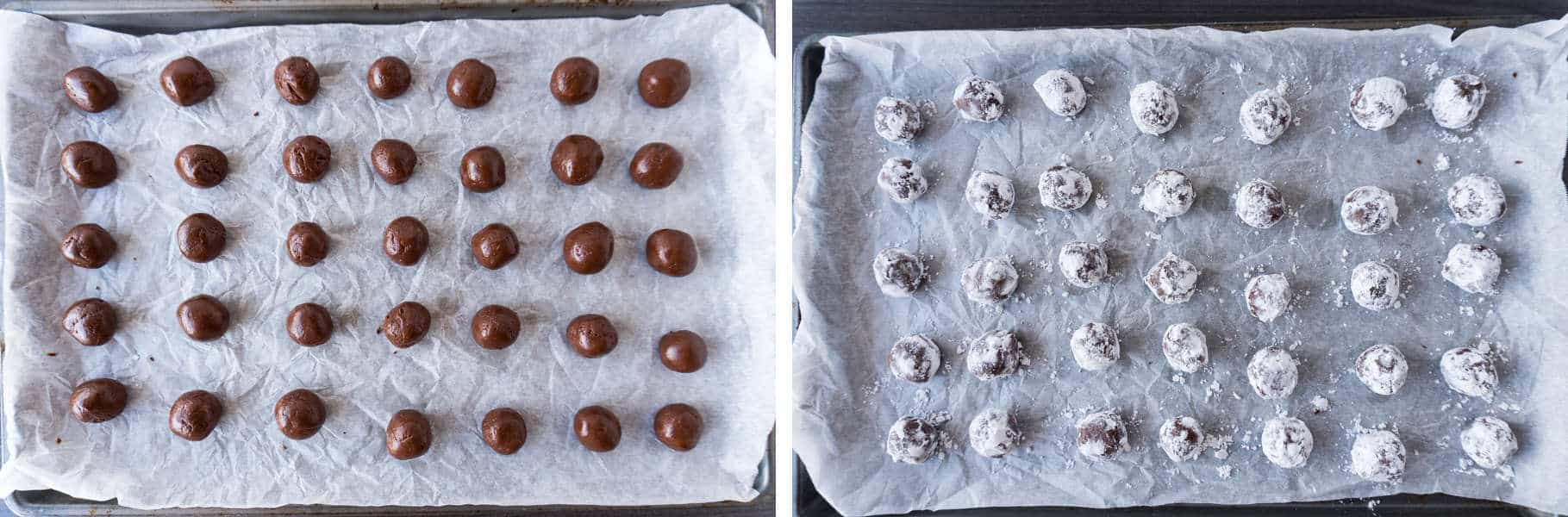 chocolate truffle recipe step1 and step 2