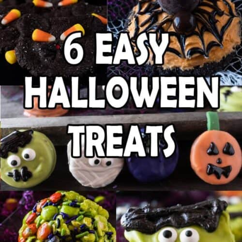 6 Easy Halloween treats, great for any party! #halloween #party #spoky #cookie #oreo #atablefullofjoy #trickortreat #easytomake