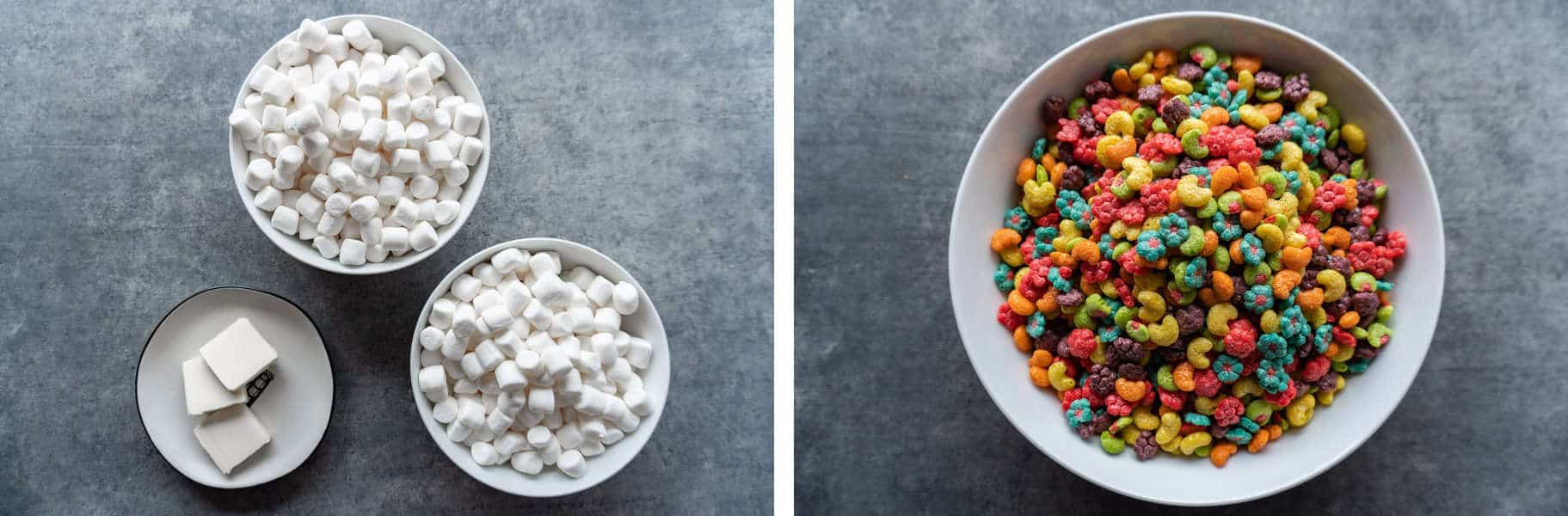 Ingredients- marshmallows, butter, trix cereal