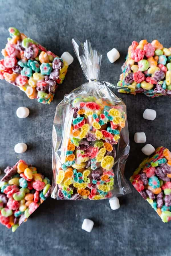 Trix Cereal Bars in clear baggie