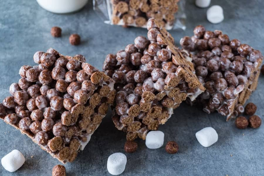 Cocoa Puff Cereal Bars stacked