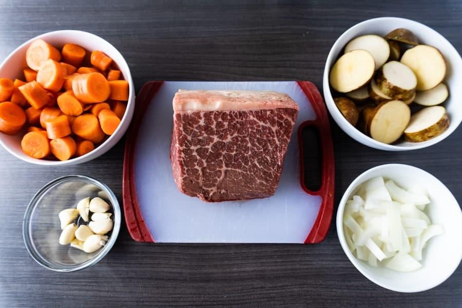 Crock Pot Pot Roast ingredients