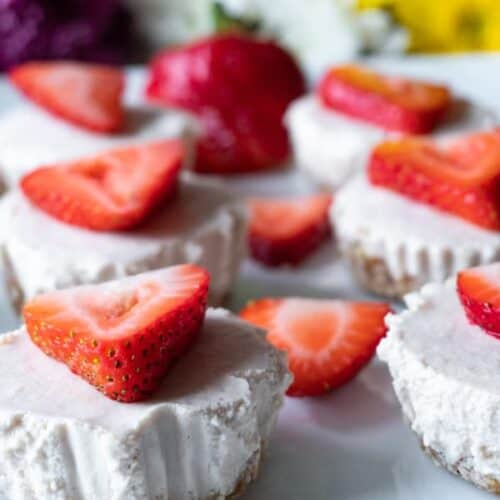 Mini Dairy Free Cheesecakes Side view picture