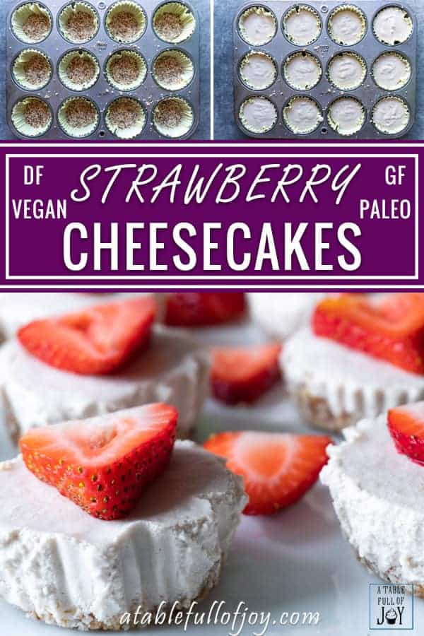 Mini Dairy Free Cheesecakes Pinnable Image