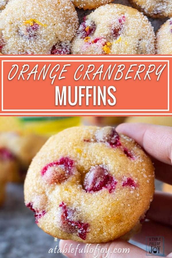 Orange Cranberry Muffins Pinterest Pin