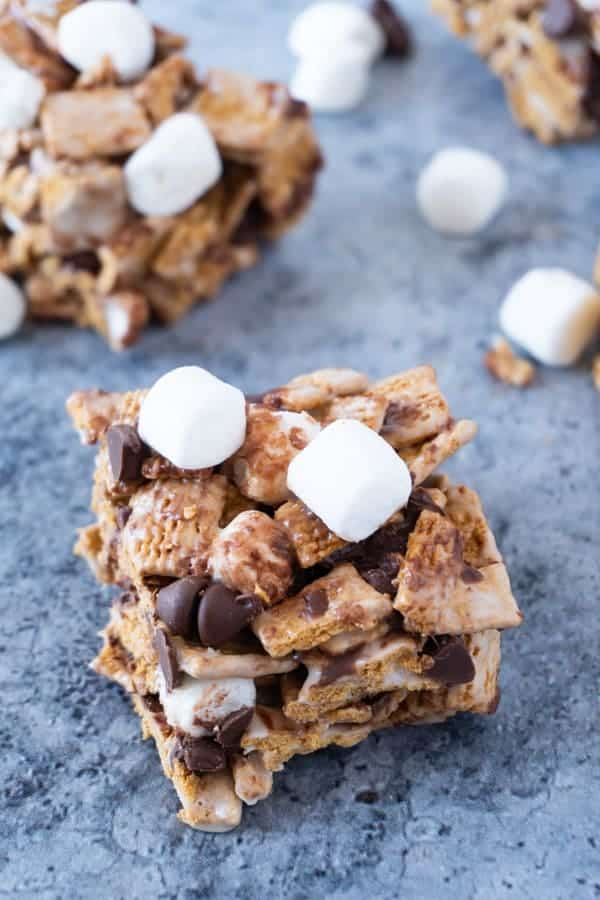 S'mores Bars Piece with marshmallows and chocolate