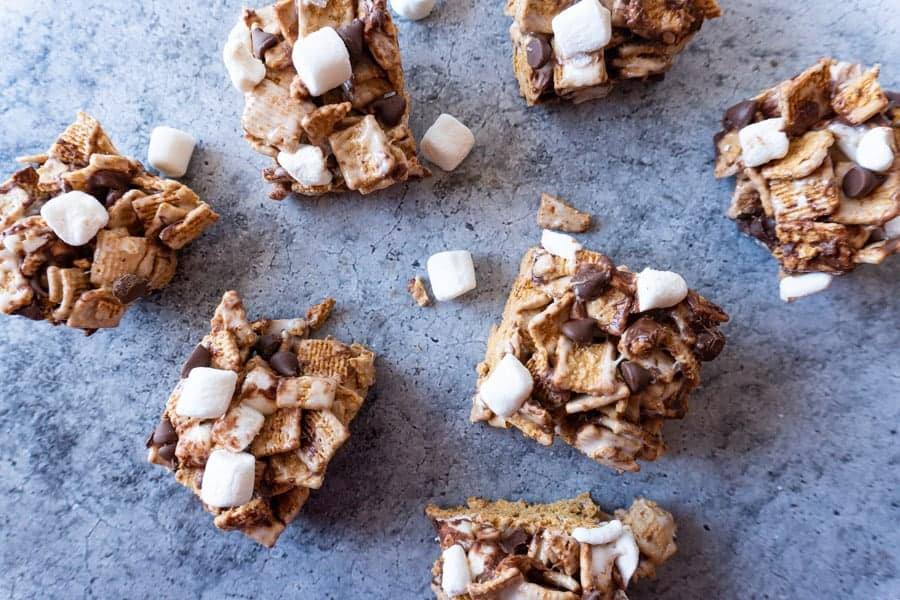 S'mores Bars overhead view