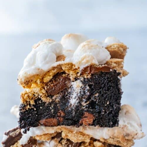 S'mores Brownies Close Up