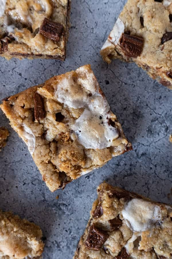 S'mores Bars Close UP