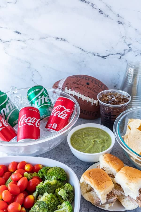 Football Party food spread