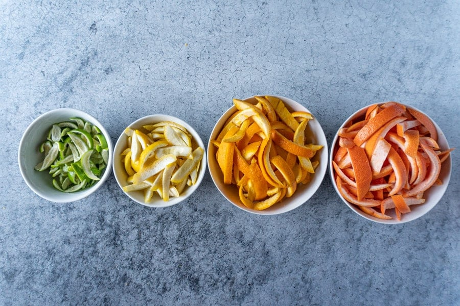 Citrus Peels in bowls