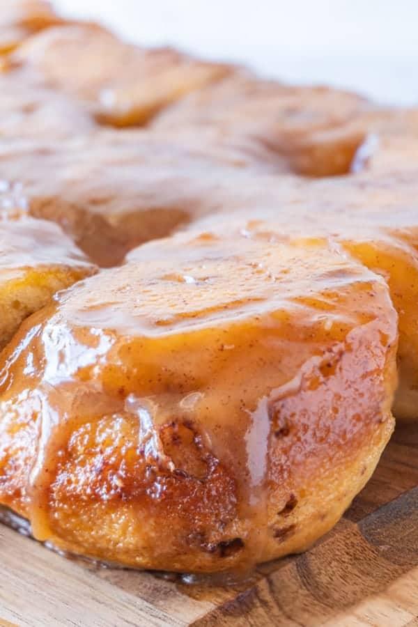 Easy Sticky Buns Recipe, close up of sticky bun