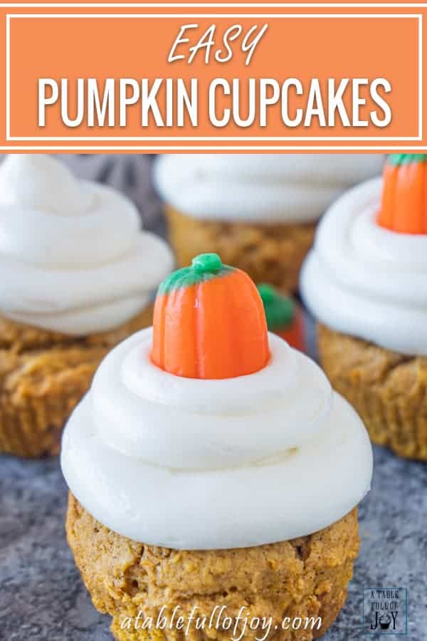 Pumpkin Cupcake Pinterest Pin