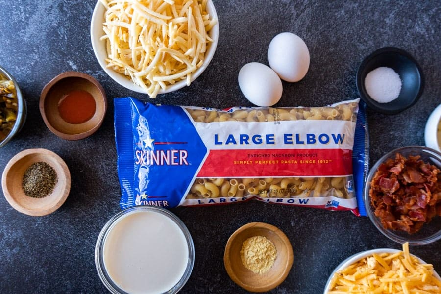 Mac and Cheese ingredients