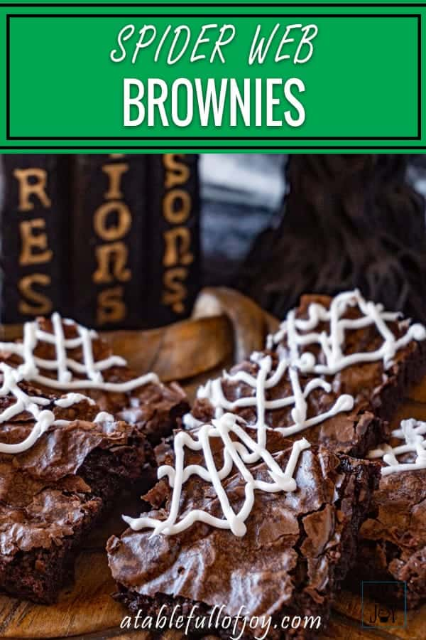 Halloween Brownies Pinterest Pin