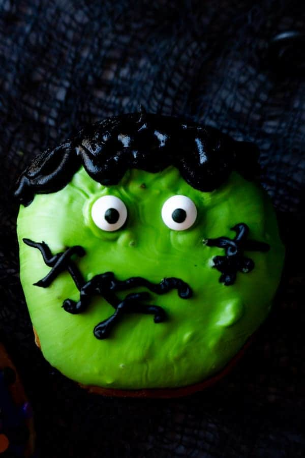 Frankenstein Donut Close up