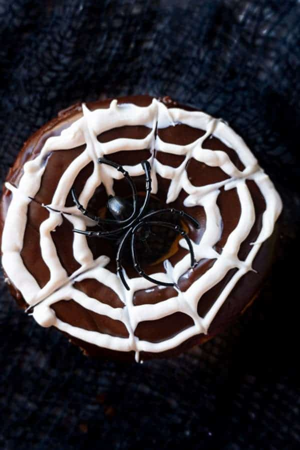 Spider Web Donut Close up