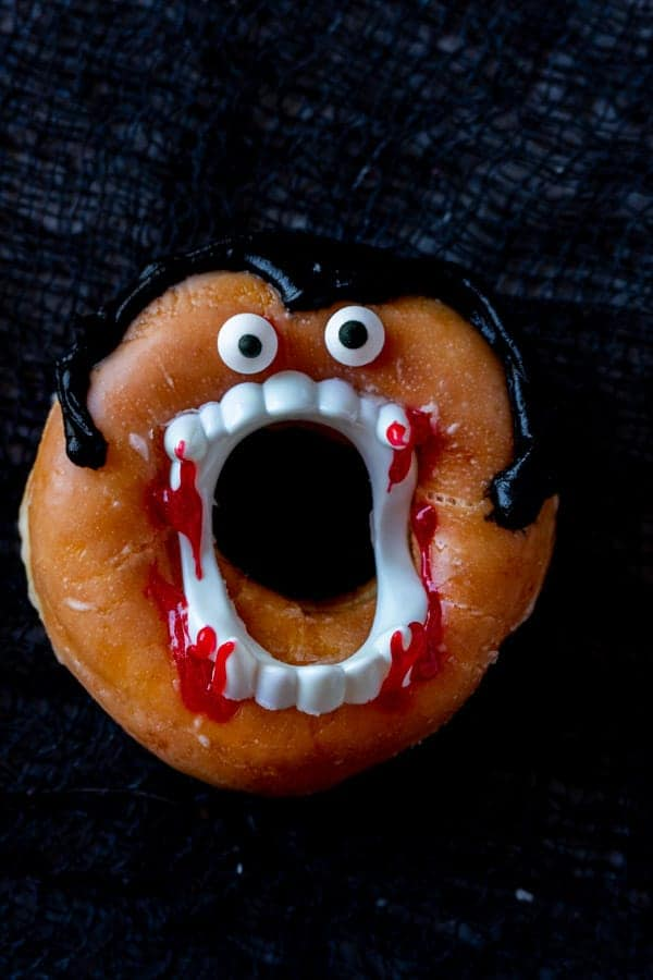 Dracula Donut Close up