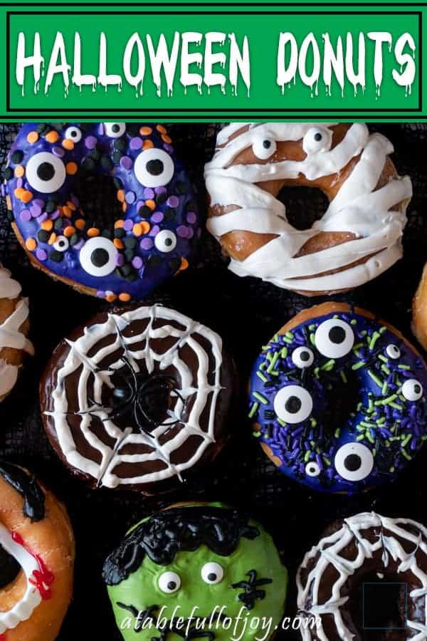 Halloween Donut Pinterest Pin
