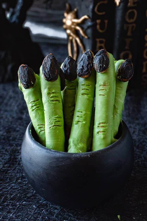 Witch'es Fingers in a small black bowl