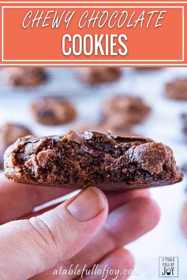 Chewy Chocolate Cookie Pinterest Pin