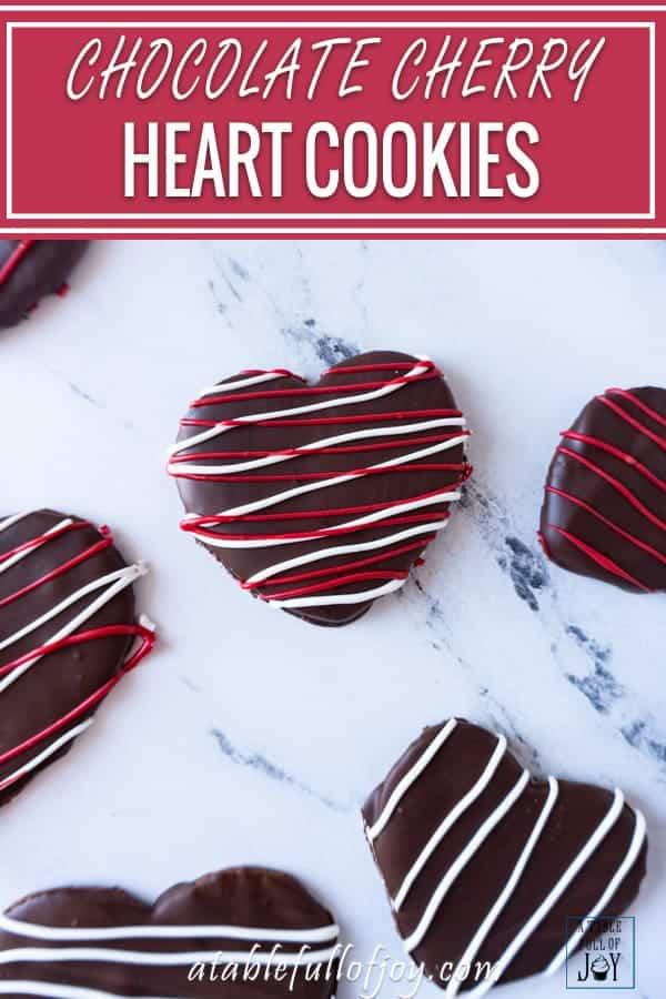 Chocolate Cherry Heart Cookies Pinterest Pin