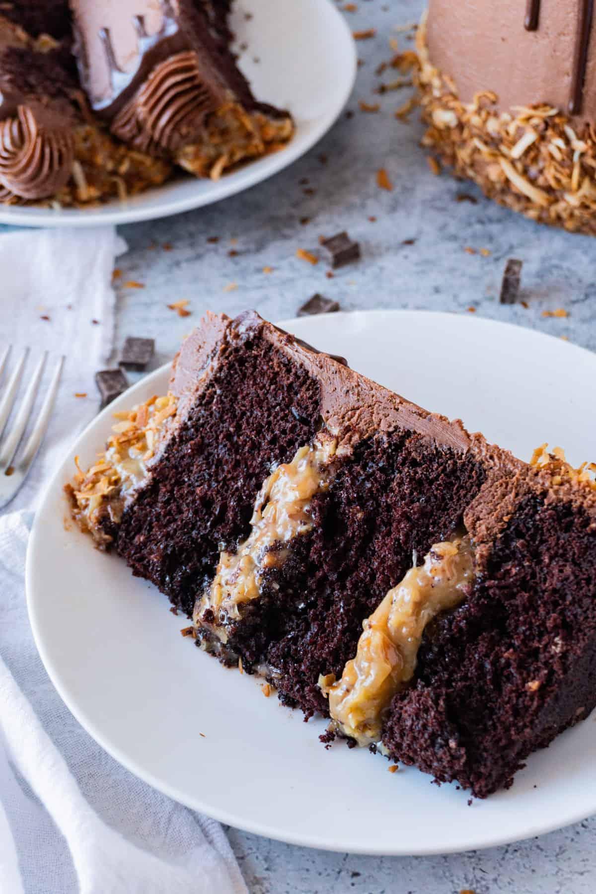 German Chocolate Cake Slice