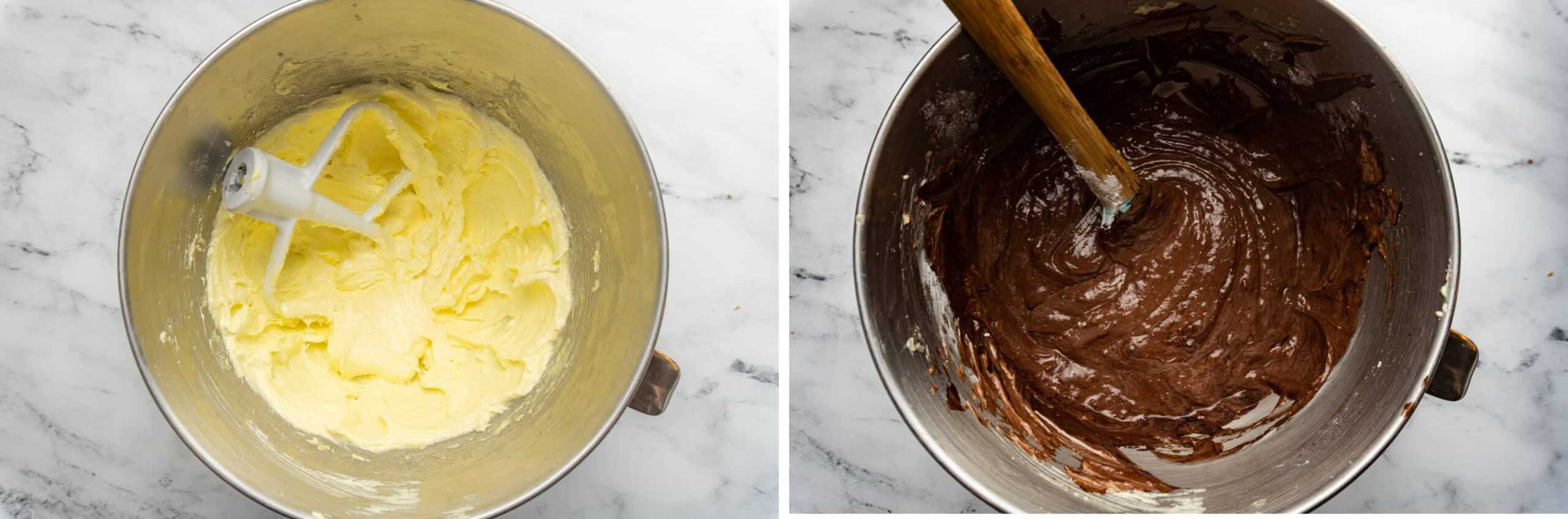 German Chocolate Cake Recipe Batter fluffy with eggs whipped in vs batter with chocolate and flour folded in