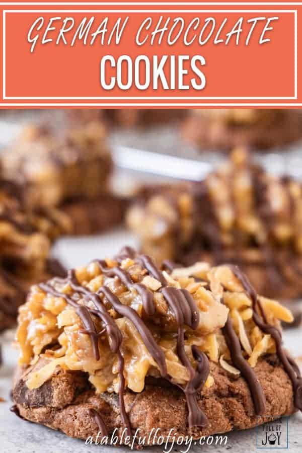 German Chocolate Cookies Pinterest Pin
