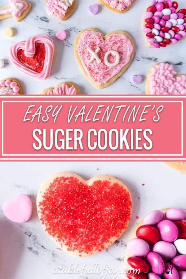 Valentine's Sugar Cookies Pinterest Pin